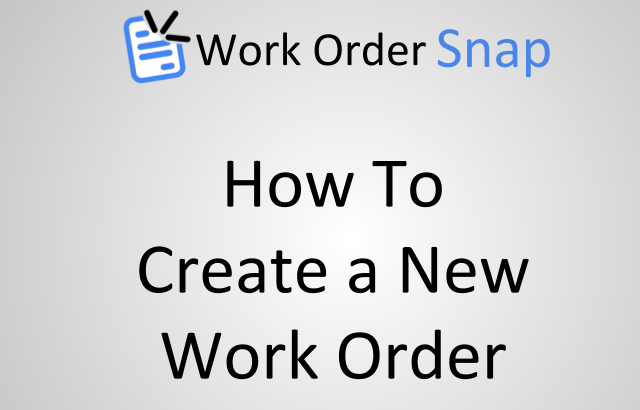 how to create save new work order