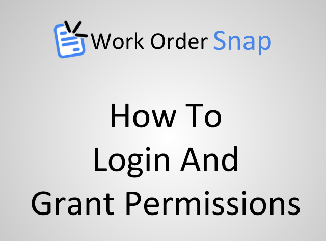 How to Login and Grant Permissions