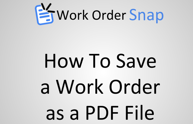 how to save work order pdf file